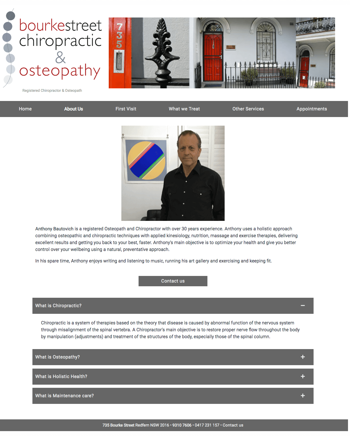 Bourke Street Chiropractic and Osteopathy website