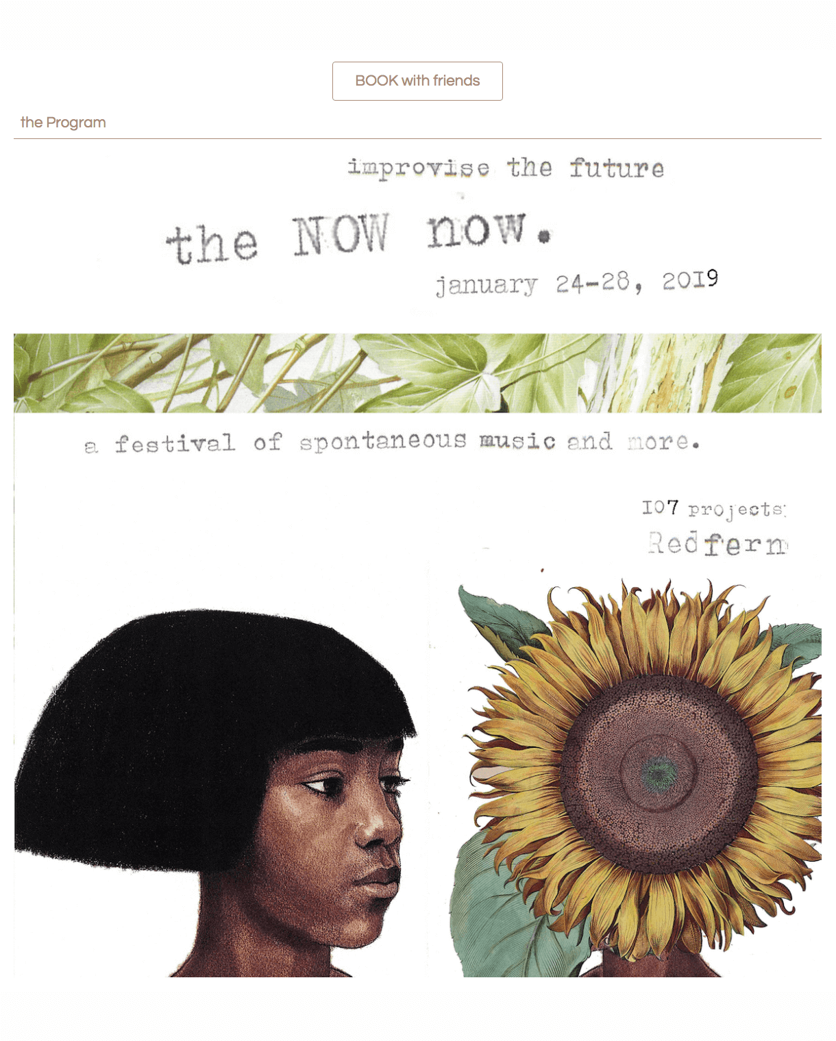 the Now now 2019 festival website